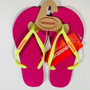 Havaianas Flip Flops Brand New with wallet .